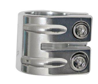 objímka Qu-Ax 2šrouby 31.8mm stříbrná -